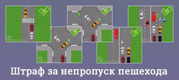 Невыполнение требования пропустить пешехода